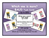 Which one is more? Australian Money Task Cards (Special Ed