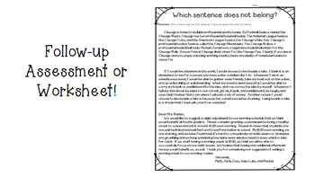Which sentence does not belong?  PowerPoint and worksheet