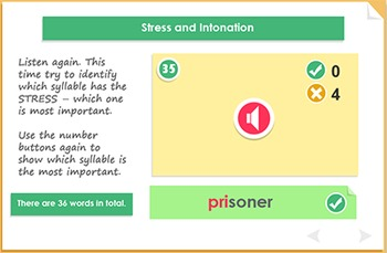 Which syllable is stressed?