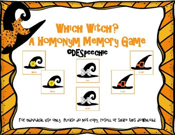 Which witch? A Homonym Memory Game.