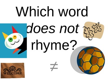 Which word does not rhyme?