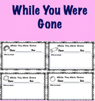 While You Were Gone: Absent Forms