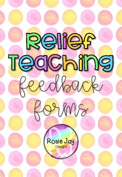 While You Were Gone Feedback FREEBIE For Relief Teaching