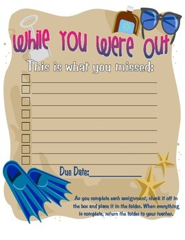 """While You Were Out"" Folder Cover"