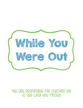 While You Were Out Forms and Cover