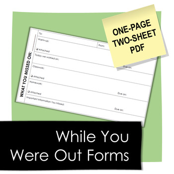While You Were Out: Organizing Missed Work