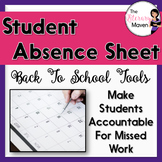 """Student Absence Sheet: """"While You Were Out"""" Log"""