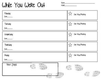 While You Were Out: Student/Parent Form
