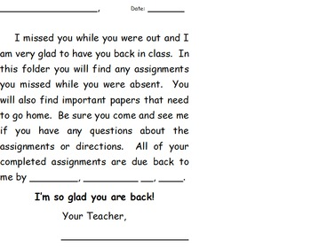 While you were out- absent folders