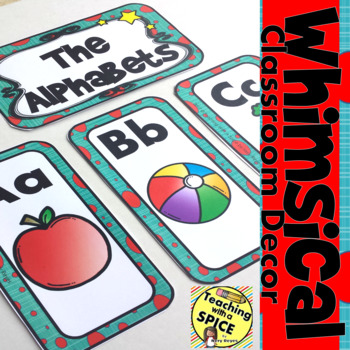Whimsical Alphabet Posters l  Meet the Teacher  l  Back to School  l  Word Wall