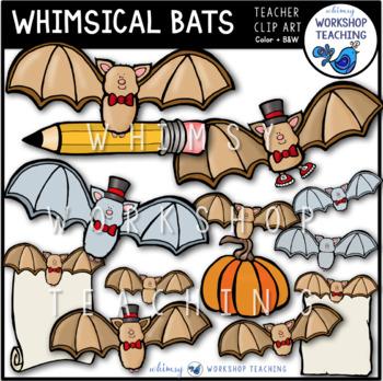 Whimsical Bats Clip Art - Whimsy Workshop Teaching