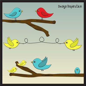 Whimsical Birds Clip Art Bundle: (Commercial Use Graphics)