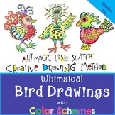 Creative Drawing! Amazing Whimsical Birds!  Art Magic Line Switch Method Script