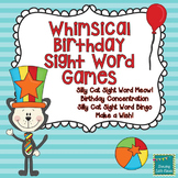 Whimsical Birthday Dolch Sight Word Games