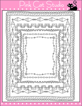 Borders - Whimsical Christmas Borders / Frames Set 2 Clip Art - Commercial Use