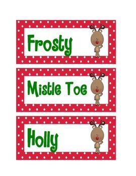 Whimsical Christmas Nametags