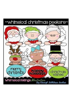 Whimsical Christmas Peekers RESELLERS-DESIGNERS LIMITED SET