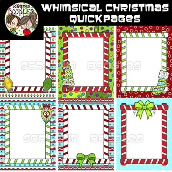 Whimsical Christmas Ready Pages / Quick Pages