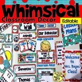 Whimsical Classroom Decor Editable Bundle 50% off- Meet the Teacher