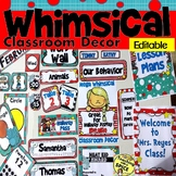 Whimsical Classroom Theme Decor Bundle EDITABLE 50% off