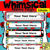 Whimsical Classroom Name Tags Editable 50% OFF 24 Hours