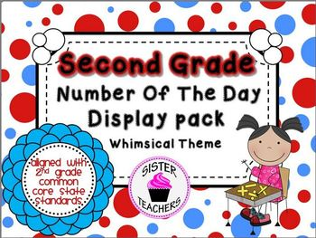 Whimsical - Common Core Number of the Day Display Pack- 2nd grade