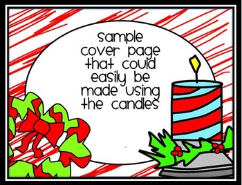 FREE Whimsical Doodle Christmas Candles Clip Art