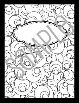 Whimsical Doodle Notebook for Teachers (B&W)