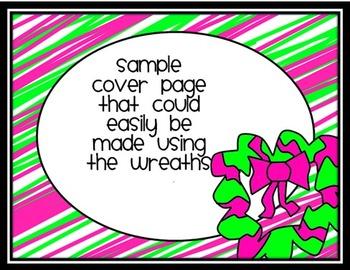 Whimsical Doodle Wreaths Clip Art
