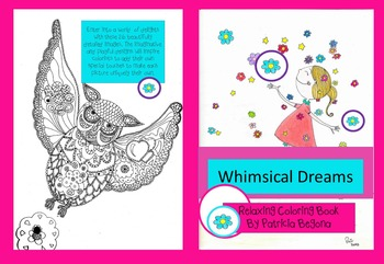 Whimsical Dreams Coloring book