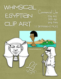 Whimsical Egyptian Clip Art - Commercial Clip Art for Clas