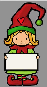 Happy Elves Clipart