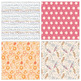 Whimsical Fantasy Patterned Backgrounds, Vibrant Digital Paper