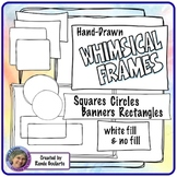 Doodle Frames Blackline Whimsical Assorted Shapes