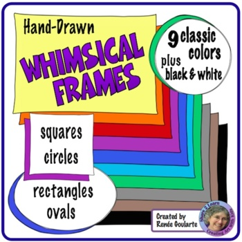 Whimsical Doodle Frames Classic Colors