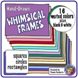 Whimsical Doodle Frames Muted Colors