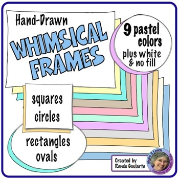 Whimsical Doodle Frames Pastel Colors by Renee Goularte Creating Art ...
