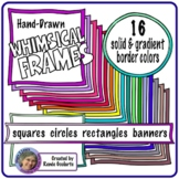 Whimsical Frames with Double Edge Colored Borders