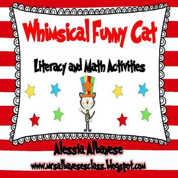 Whimsical Funny Cat Literacy and Math Activities