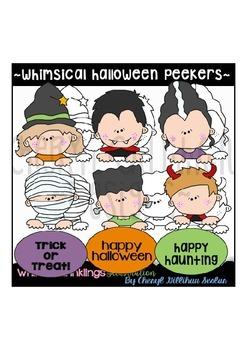 Whimsical Halloween Peekers RESELLERS-DESIGNERS LIMITED SET