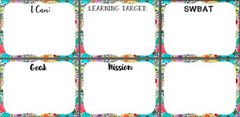 Whimsical I Can/Learning Statement Pack
