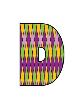 Letters Filled With Colorful Patterns