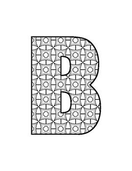 Letters Filled With Fun Patterns