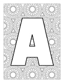 Letters with Fun Background Patterns