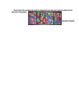 Whimsical Line Prints Lesson Plan