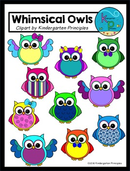 Whimsical Owls Clipart