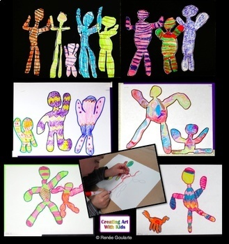 Art Lesson Whimsical People Inspired by Keith Haring