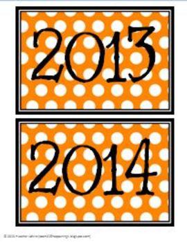 Whimsical Polka Dot Calendar Center Kit