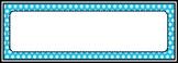 Whimsical Polka Dot Name Plates