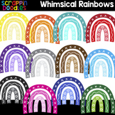 Whimsical Rainbows Clipart {Scrappin Doodles Clip Art}